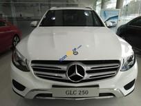 Bán Mercedes GLC250 4 Matic đời 2017, màu trắng, nội thất nâu, xe giao ngay