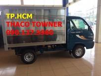 TP. HCM Thaco Towner 800 900 kg, màu xanh giá cạnh tranh, thùng kín tôn kẽm