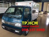 TP. HCM Thaco Towner 800 900 kg, màu xanh lam, thùng kín inox 430