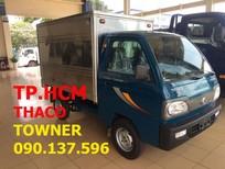 TP. HCM Thaco Towner 800 900kg sản xuất mới, màu xanh lam, thùng kín inox 304