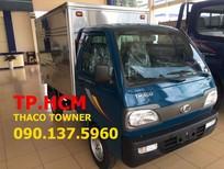 TP. HCM Thaco Towner 800 900 kg, màu xanh lục, giá cạnh tranh thùng kín nhôm