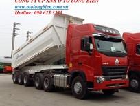 Đầu kéo, rơ mooc ben tự đổ 3 trục tải trọng 28,5-30 tấn 2016, 2017