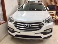 Bán Hyundai Santa Fe máy dầu 2 cầu bản full 4WD 2016, màu trắng
