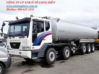 Xe bồn, xe xi téc chở xăng dầu 5 chân 25-26m3 Hyundai, Daewoo, Howo, Dongfeng 2016, 2017