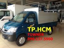 TP. HCM Thaco Towner 990 990 KG, màu xanh lam, thùng mui bạt tôn đen