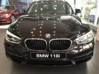 BMW 1 Series 118i 2017, màu nâu, nhập khẩu chính hãng. Bán xe BMW chính hãng tại Bình Định