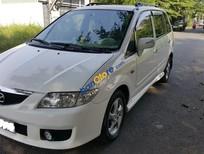 Cần bán xe Mazda Premacy AT 1.8 sản xuất 2003, màu trắng số tự động, giá 255tr