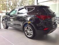 Bán ô tô Hyundai Santa Fe năm sản xuất 2017, màu nâu