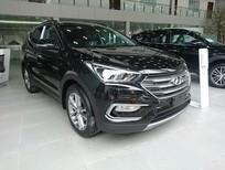 Hyundai Santa Fe máy xăng sx 2017 màu đen các phiên bản giao ngay, nhiều ưu đãi, khuyến mãi lớn.