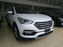 Hyundai Santa Fe máy xăng SX 2017 màu trắng các phiên bản giao ngay, khuyến mãi lớn, cam kết giá tốt nhất.