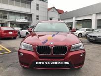 Bán BMW X3 xDrive20i 2017, màu đỏ, nhập khẩu chính hãng, ưu đãi cực khủng