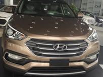 Bán ô tô Hyundai Santa Fe 2017, màu Cafe, nhập khẩu nguyên chiếc