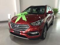 Bán Hyundai Santa Fe 2017 mới 100%, tiêu chuẩn Euro 4, màu đỏ - Hyundai Ngọc An