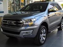 Bán Ford Everest 2.2L Titanium sản xuất 2017, màu bạc, nhập khẩu Thái Lan hỗ trợ trả góp toàn quốc