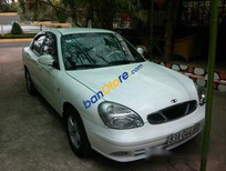 Cần bán lại xe Daewoo Nubira MT sản xuất 2001, màu trắng đã đi 90000 km