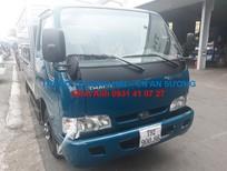 Xe tải Kia K165 2.4 tấn thùng mui bạt bửng, màu xanh dương, Inox 430 đời 2017, giao xe trong 3 ngày.