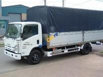 Bán xe Isuzu 5.25 tấn thùng dài 6.2m, thùng to, tải cao sản xuất 2017, màu trắng giá cạnh tranh