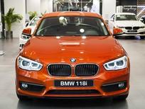 Bán xe BMW 1 Series 118i phiên bản 2017, màu cam, nhập khẩu chính hãng