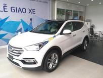 Bán ô tô Hyundai Santa Fe năm sản xuất 2017, màu trắng