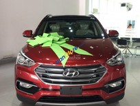 Hyundai SantaFe 2017 máy dầu, bản Full màu đỏ giao ngay