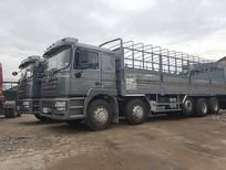 Xe tải 4-5 chân Shacman tiêu chuẩn châu Âu, gắn cẩu, bồn nhiên liệu