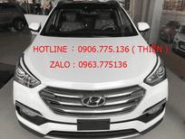 Bán Hyundai Santa Fe 2.4 đời 2017, màu trắng