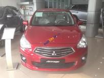 Bán Mitsubishi Attrage CVT đời 2017, màu đỏ, nhập khẩu