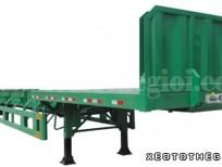 Nhà phân Phối Rơ mooc Doosung bán Mooc tải chở thép ống thép thanh 32tấn
