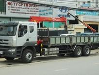 Xe tải Chenglong 3 chân gắn cẩu Palfinger Sany 5T
