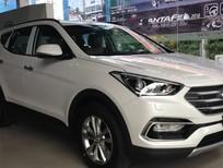 Bán xe Hyundai Santa Fe 2.4 đời 2017, màu trắng