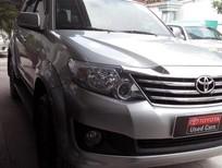 Bán Toyota Fortuner V 2012, màu bạc, máy xăng, 1 cầu, số tự động, giá chỉ 820 triệu