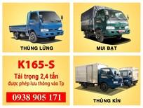 Bán xe tải KIA 2T4 K165s xe mới đời 2017, xe giao liền. Hỗ trợ trả góp chỉ với 100 triệu