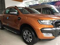 Bán xe Ford Ranger wildtrak 3.2L 2017, màu cam, nhập khẩu chính hãng