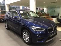 BMW X1 sDrive18i 2017, màu xanh, xe nhập, giá rẻ nhất, có xe giao ngay