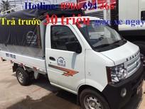Đại lý bán xe tải nhỏ Dongben 800kg, máy SYM, thùng bạt, trả góp lãi suất thấp