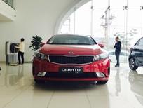 Bán ô tô Kia Cerato 1.6 AT 2017, màu đỏ, giá tốt, trả góp chỉ với 200 triệu đồng