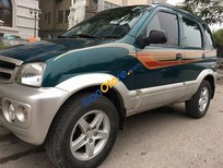 Bán xe Daihatsu Terios số sàn, 2 cầu điện, máy xăng, đời 2004, màu xanh, biển HN