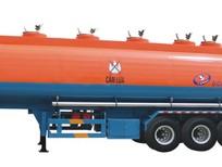 Xe sơ mi rơ mooc bồn chở xi téc chở xăng, Xi téc chở xăng ,dầu, tro bay 39m3 Doosung 2017