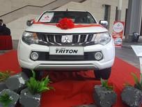 Xe Mitsubishi Triton mới 2017, màu trắng, nhập khẩu,giá rẻ nhất Đà Nẵng