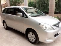 Gia đình cần bán xe Toyota Innova 2.0G xịn bản đủ đời 2009, màu bạc, chính chủ HN giá 398tr