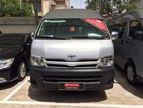 Bán xe Hiace máy dầu sản xuất 2013 màu bạc, nhập khẩu Nhật Bản