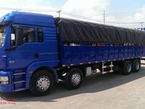 Cần bán xe tải shacman 4 chân nhập khẩu  2017, màu xanh lam