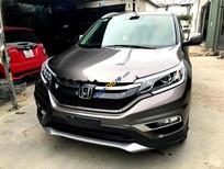 Cần bán Honda CR V 2.4AT đời 2015, màu nâu