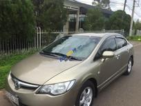 Cần bán lại xe Honda Civic đời 2008, màu vàng, nội ngoại thất máy móc còn zin nguyên bản
