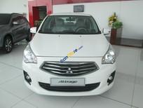 Cần bán Mitsubishi Attrage MT CVT model 2017, màu trắng, xe nhập, giá chỉ 422 triệu