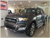 Ford Ranger Quảng Ninh, bán phiên bản Wildtrak 3.2 AT 4x4 Navigator đời 2017, màu xám, hỗ trợ trả góp