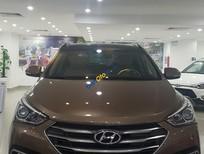 Bán ô tô Hyundai Santa Fe năm 2016, màu nâu