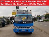 Bán Jac HFC 6T4 sản xuất 2017, màu xanh lam, giá 485tr