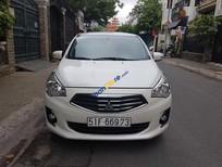 Cần bán xe Mitsubishi Attrage MT năm sản xuất 2016, màu trắng, nhập khẩu Thái Lan như mới