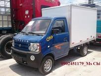 Bán xe tải nhỏ Dongben 770kg thùng kín sản xuất năm 2017, màu xanh lam, nhập khẩu